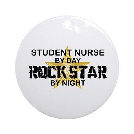 Student Nurse Rock Star by Night Ornament (Round)