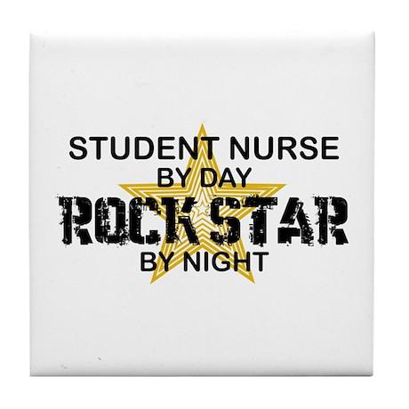 Student Nurse Rock Star by Night Tile Coaster