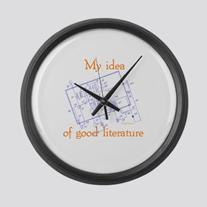 My Idea Of Good Literature Large Wall Clock