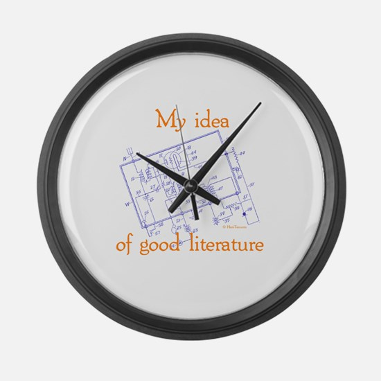 My Idea Of Good Literature Large Wall Clock