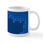 Julia Set Map Mug, blue, z^6