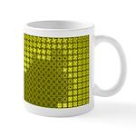 Julia Set Map Mug, yellow, z^4