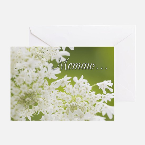 Memaw White Jasmine Greeting Card