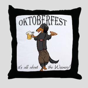 LHBT Oktoberfest Dachsie Throw Pillow