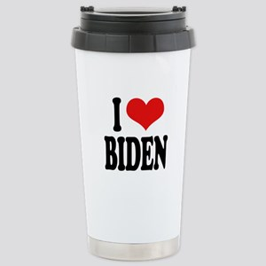 I Love Biden Stainless Steel Travel Mug