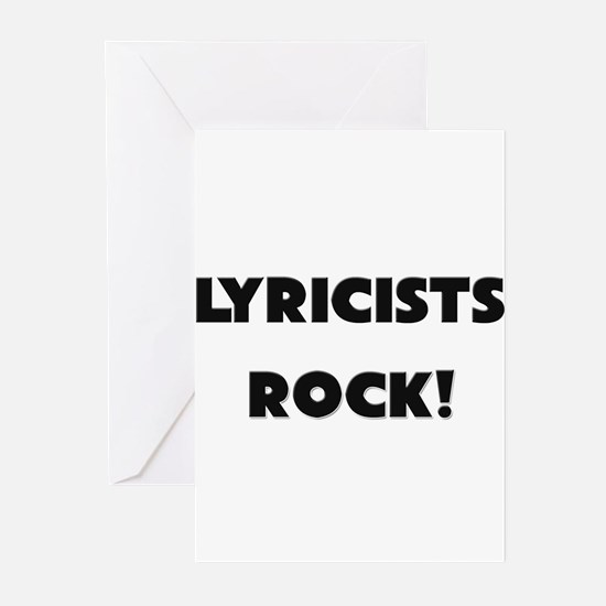 Lyricists ROCK Greeting Cards (Pk of 10)