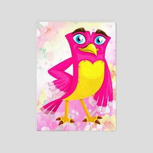 Girl Bird 5'x7'area Rug