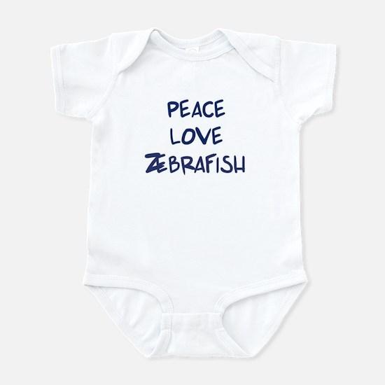 Peace, Love, Zebrafish Infant Bodysuit