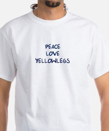 Peace, Love, Yellowlegs White T-Shirt