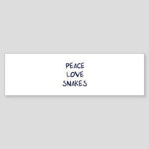 Peace, Love, Snakes Bumper Sticker