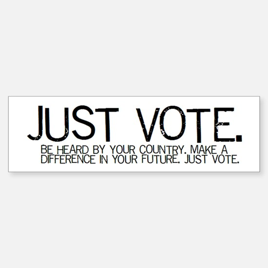 The JUST VOTE Bumper Bumper Bumper Sticker