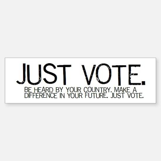 The JUST VOTE Bumper Car Car Sticker