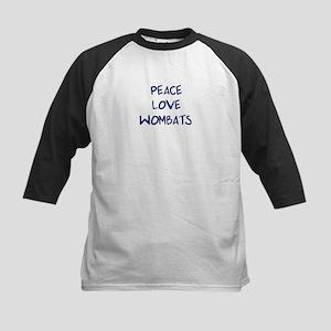 Peace, Love, Wombats Kids Baseball Jersey