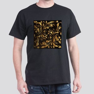 vintage floral gold ornament T-Shirt