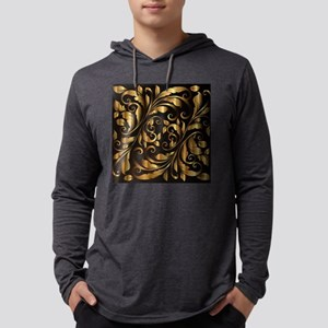 vintage floral gold ornament Long Sleeve T-Shirt