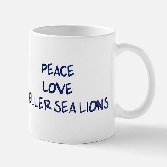 Peace, Love, Steller Sea Lion Mug