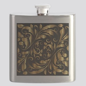 vintage floral gold ornament Flask