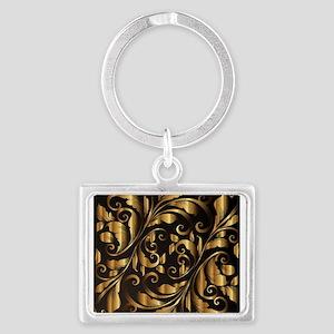 vintage floral gold ornament Keychains