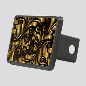 vintage floral gold orname Rectangular Hitch Cover