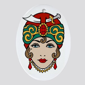 GYPSY WOMAN Oval Ornament