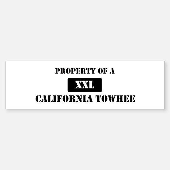 Property of a California Towh Bumper Bumper Bumper Sticker