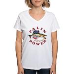 Palin Power Women's V-Neck T-Shirt