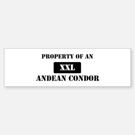 Property of a Andean Condor Bumper Bumper Bumper Sticker