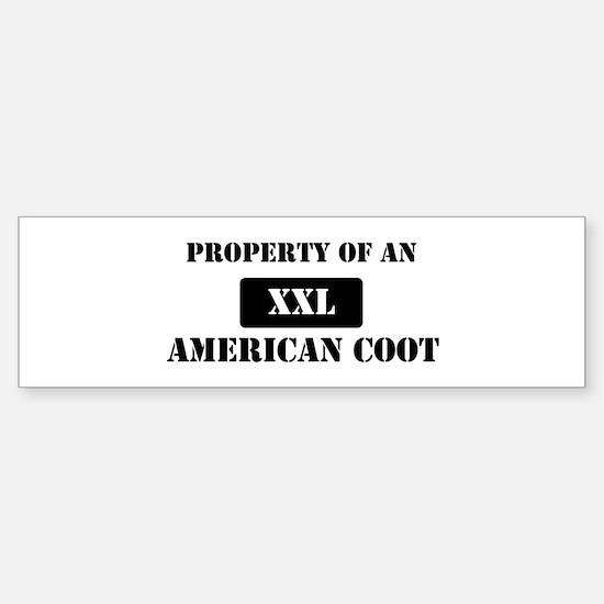 Property of a American Coot Bumper Bumper Bumper Sticker