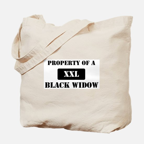 Property of a Black Widow Tote Bag