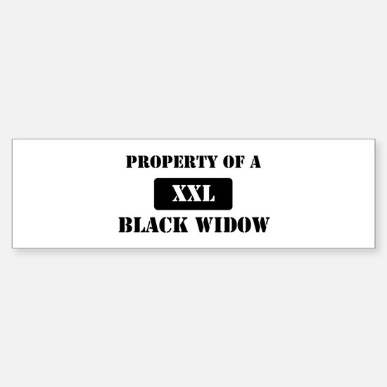 Property of a Black Widow Bumper Bumper Bumper Sticker