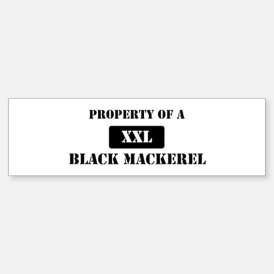 Property of a Black Mackerel Bumper Bumper Bumper Sticker