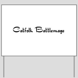 Catfolk Battlemage Yard Sign
