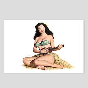 Mandolin Girl Postcards (Package of 8)