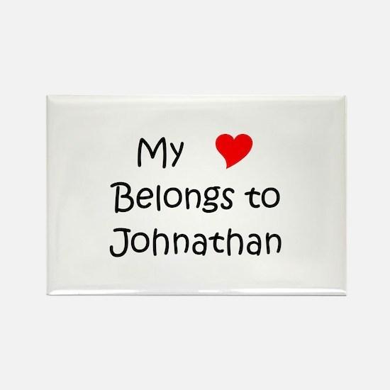 Name johnathan Rectangle Magnet