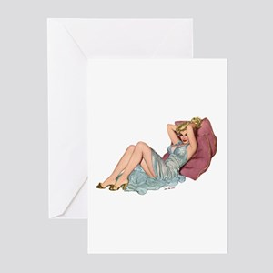 Double Pillow Girl Greeting Cards (Pk of 10)