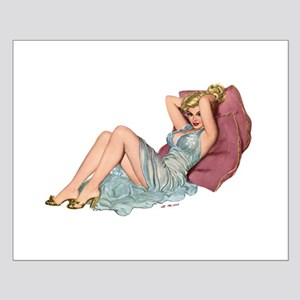 Double Pillow Girl Small Poster
