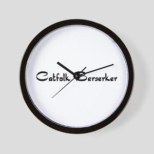 Catfolk Berserker Wall Clock
