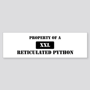 Property of a Reticulated Pyt Bumper Sticker
