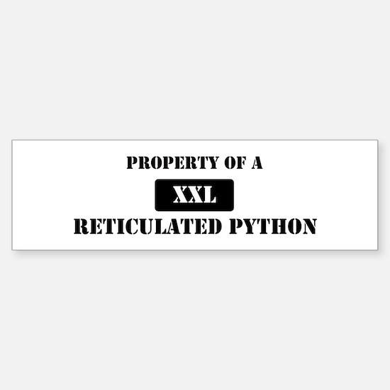 Property of a Reticulated Pyt Bumper Bumper Bumper Sticker