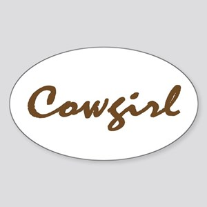 cowgirl Oval Sticker