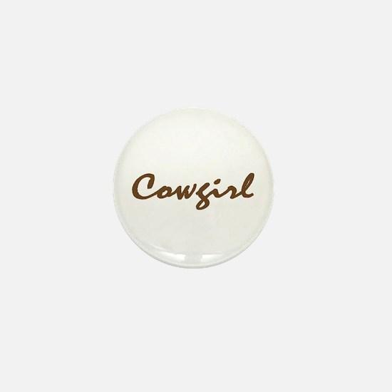 cowgirl Mini Button