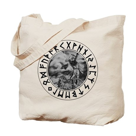 Thor Rune Shield Tote Bag