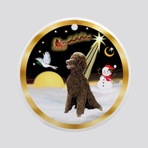 NightFlight/ Standard Poodle (Ch) Ornament (Round)