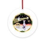 WiseMen - Whippet Ornament (Round)