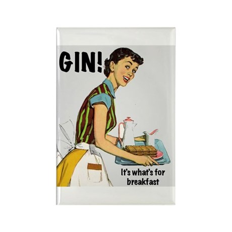 Gin Rectangle Magnet