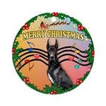 XmasMusic2MC/ Great Dane Ornament (Round)