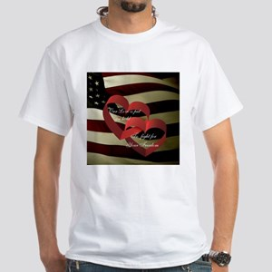 Love and Freedom with Flag White T-Shirt