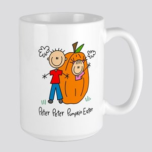 Peter Peter Pumkin Eater Lefty Large Mug