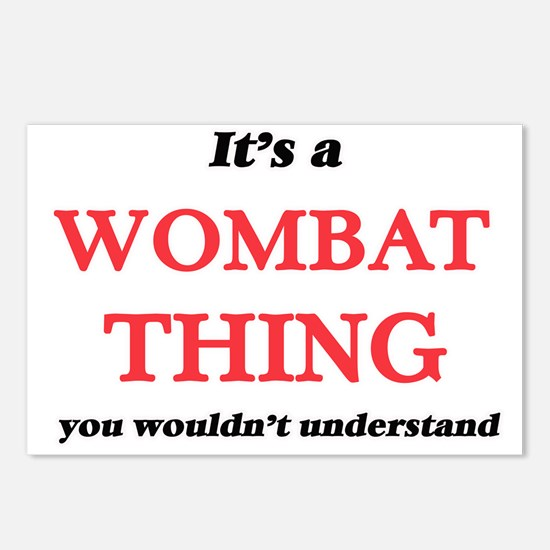 It's a Wombat thing, Postcards (Package of 8)