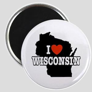 I Love wisconsin Magnet